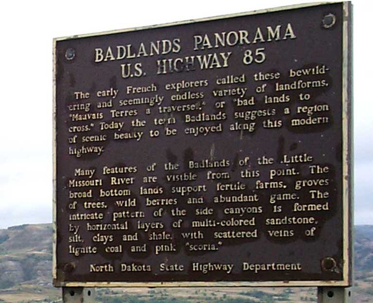 Badlands Panorama Plaque - 67969